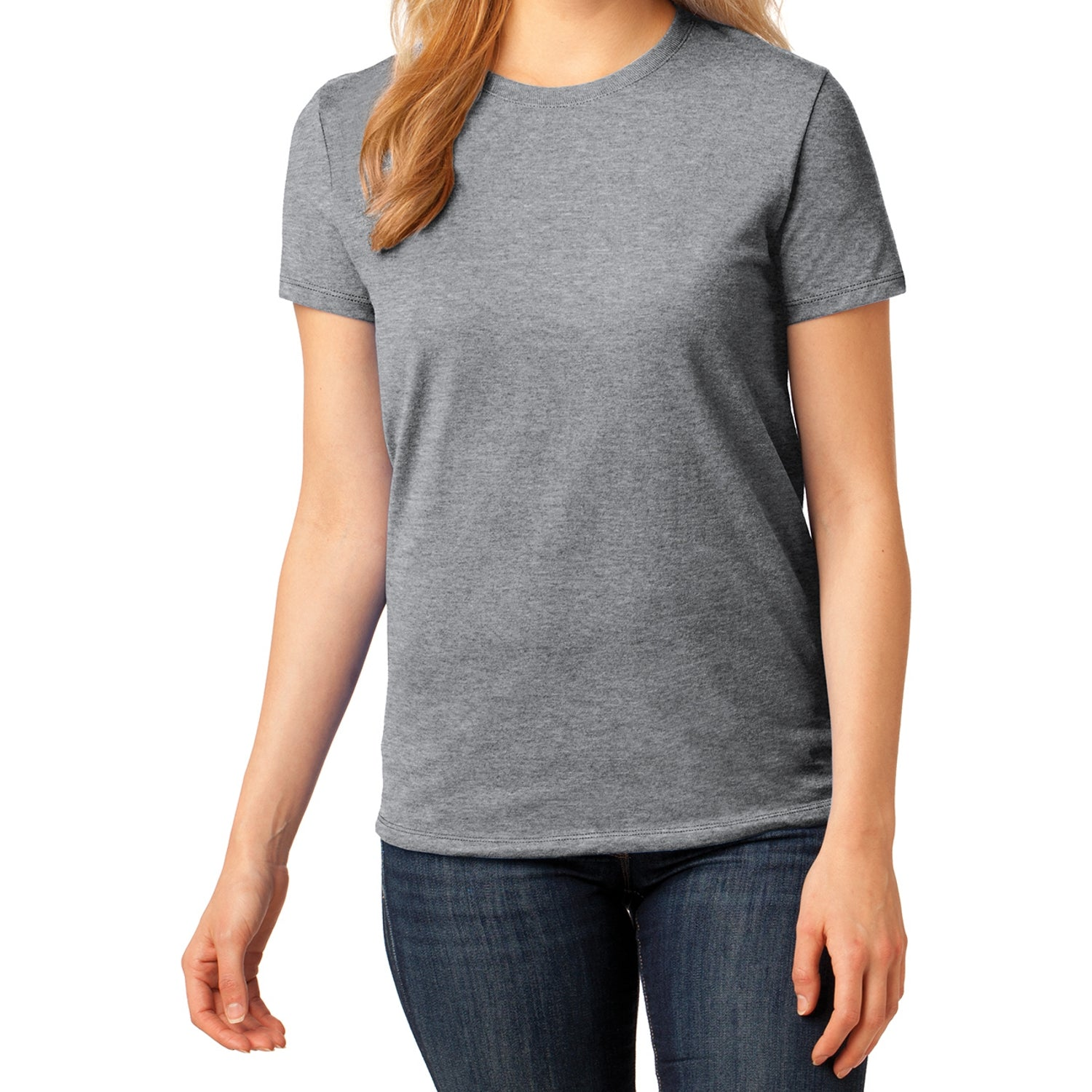 Ladies Core Cotton Tee -  Athletic Heather