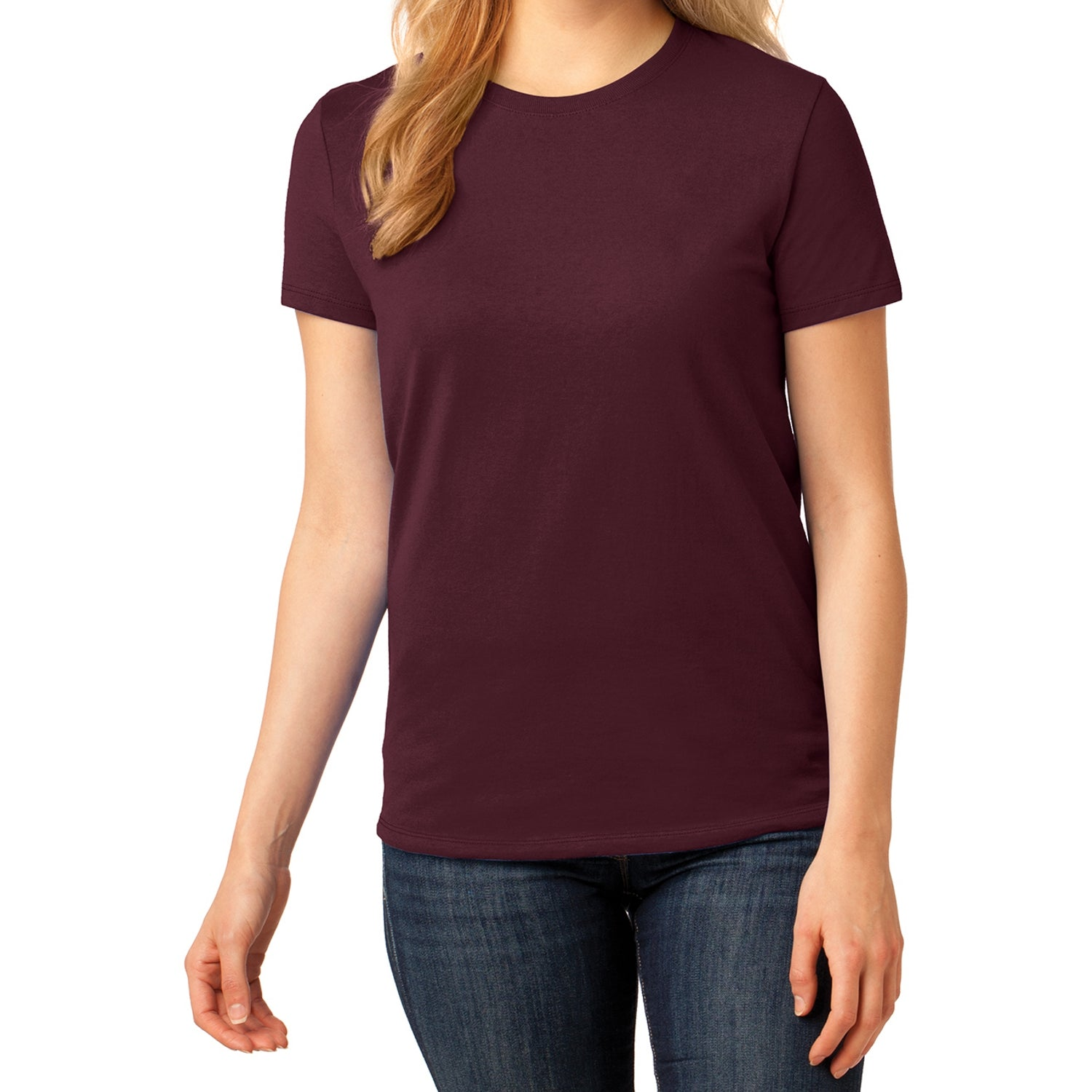 Ladies Core Cotton Tee -  Athletic Maroon