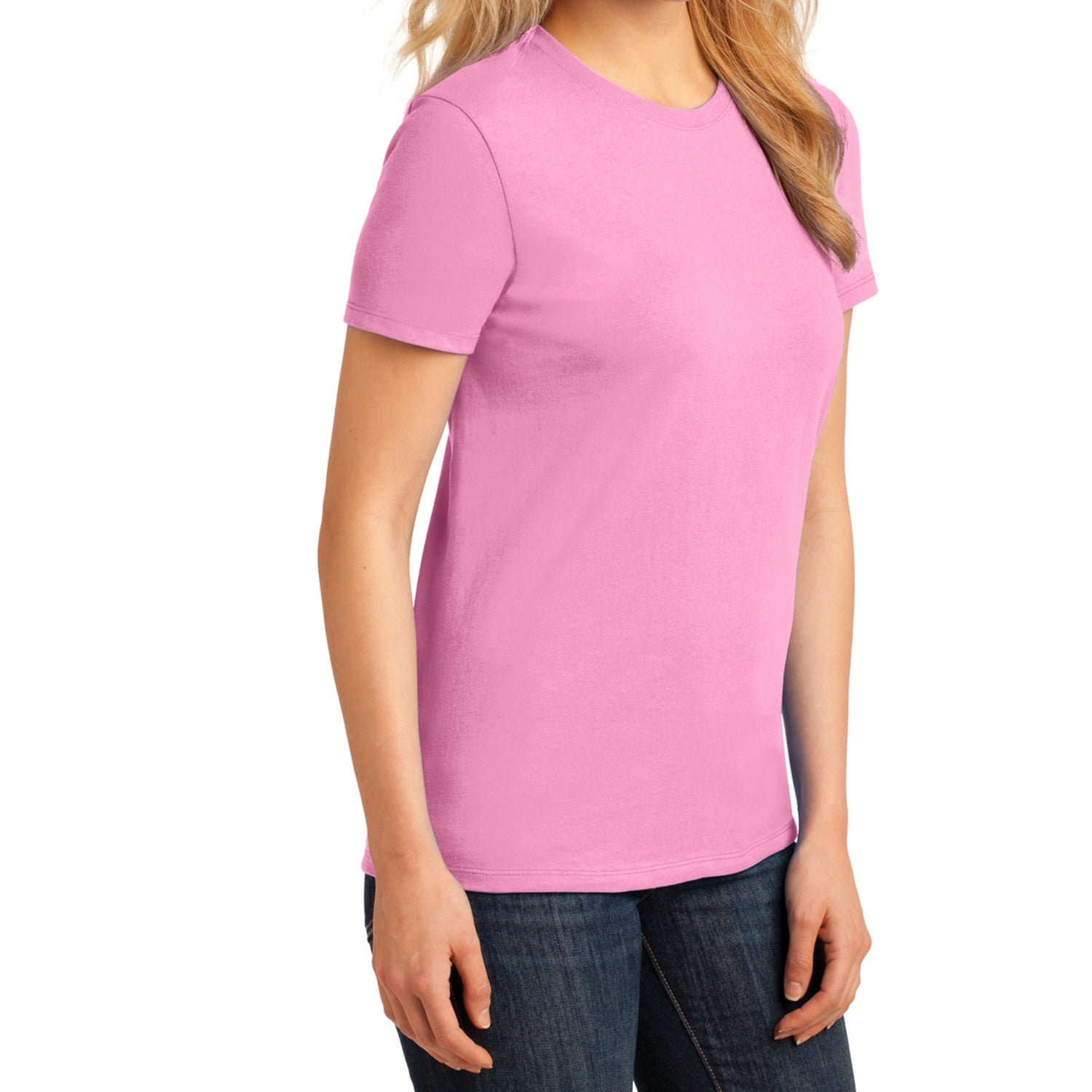 Ladies Core Cotton Tee -  Candy Pink