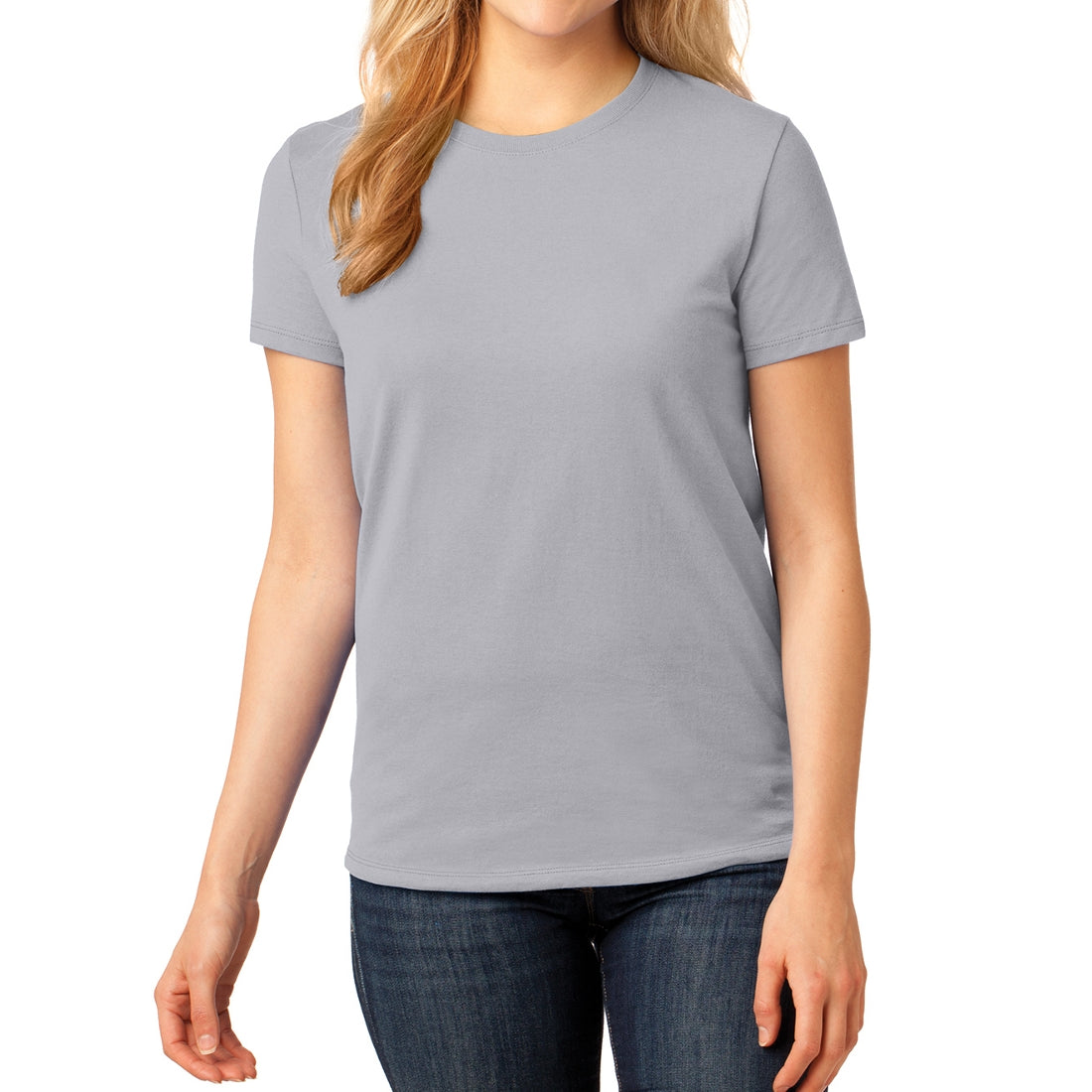 Ladies Core Cotton Tee - Silver