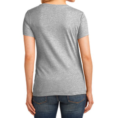 Women's Core Cotton V-Neck Tee Ash - Back