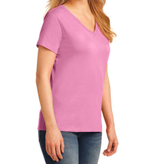 Women's Core Cotton V-Neck Tee Candy Pink - Side