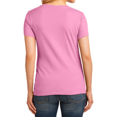 Women's Core Cotton V-Neck Tee Candy Pink - Back