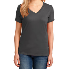 Women's Core Cotton V-Neck Tee Charcoal - Front