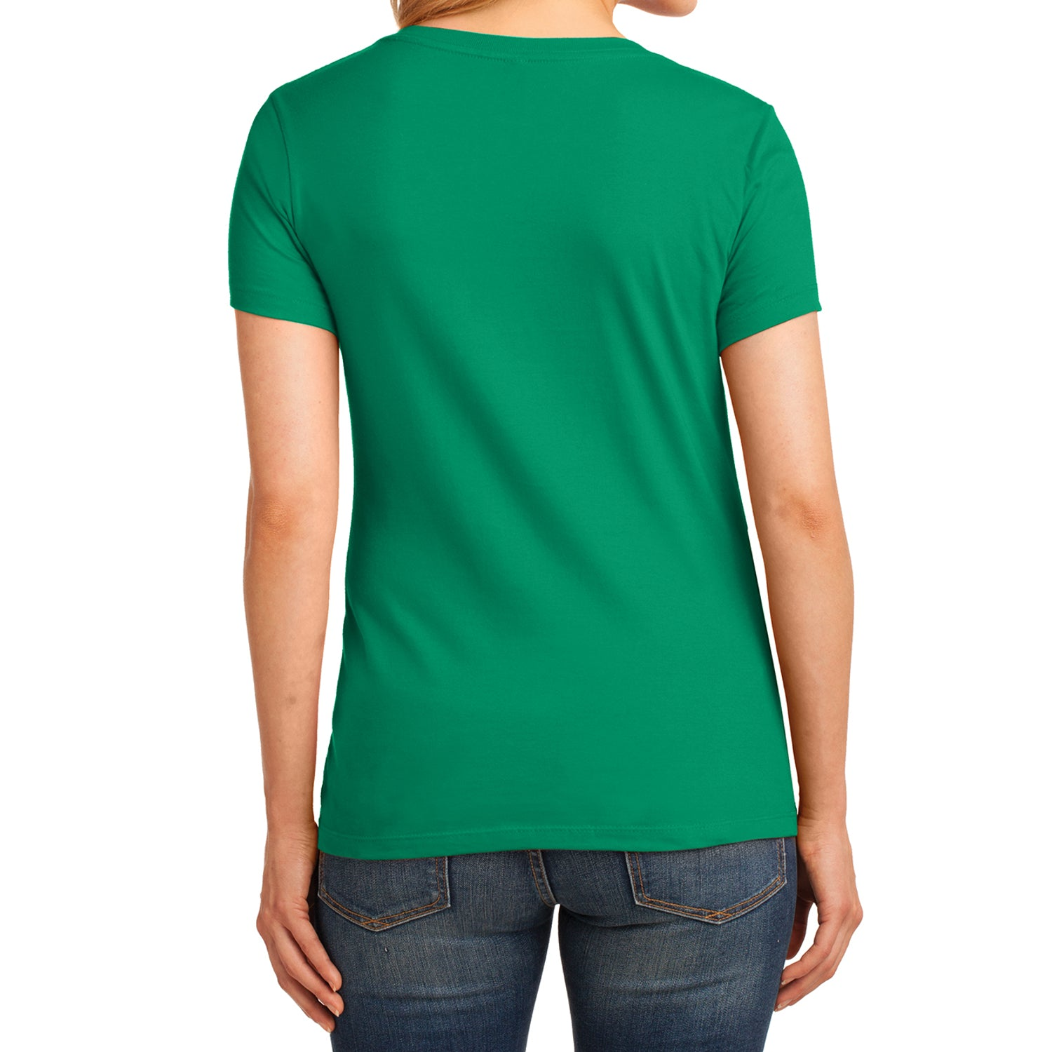 Women's Core Cotton V-Neck Tee Kelly - Back