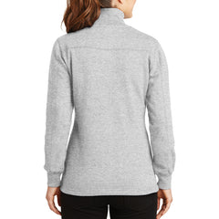 Women's 1/4 Zip Sweatshirt Athletic Heather - Back