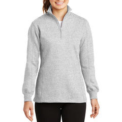 Women's 1/4 Zip Sweatshirt Athletic Heather - Front