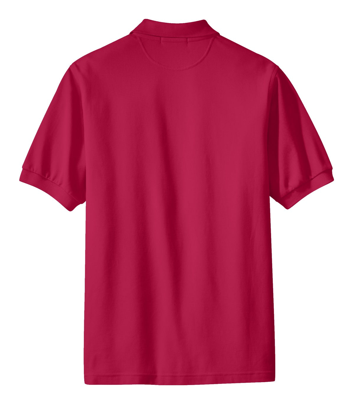 Mafoose Men's 100% Pima Cotton Polo Shirt Red-Back