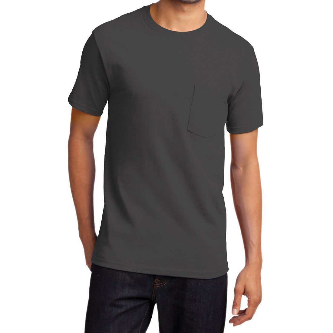 Men's Essential T Shirt with Pocket Charcoal