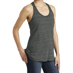 Women's Cosmic Twist Back Tank - Black/ Grey Cosmic - Side