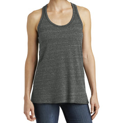 Women's Cosmic Twist Back Tank - Black/ Grey Cosmic - Front