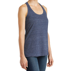 Women's Cosmic Twist Back Tank - Navy/ Royal Cosmic - Side