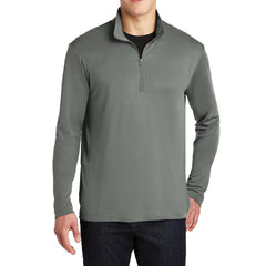 PosiCharge Competitor Cadet Collar 1/4-Zip Pullover Grey Concrete