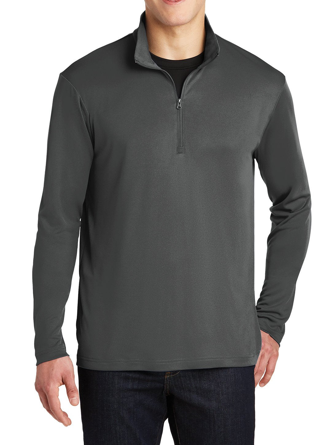 PosiCharge Competitor Cadet Collar 1/4-Zip Pullover Iron Grey