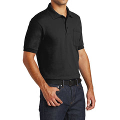 Mafoose Men's Core Blend Jersey Knit Pocket Polo Shirt Jet Black