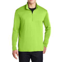 PosiCharge Competitor Cadet Collar 1/4-Zip Pullover Lime Shock