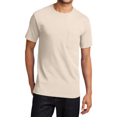 Men's Essential T Shirt with Pocket Natural