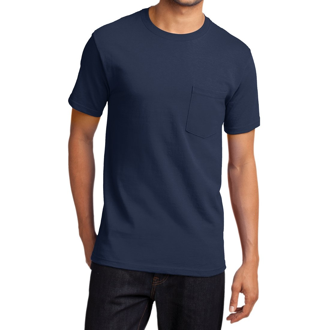 Men's Essential T Shirt with Pocket Navy