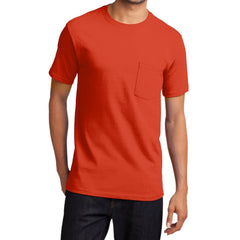 Men's Essential T Shirt with Pocket Orange