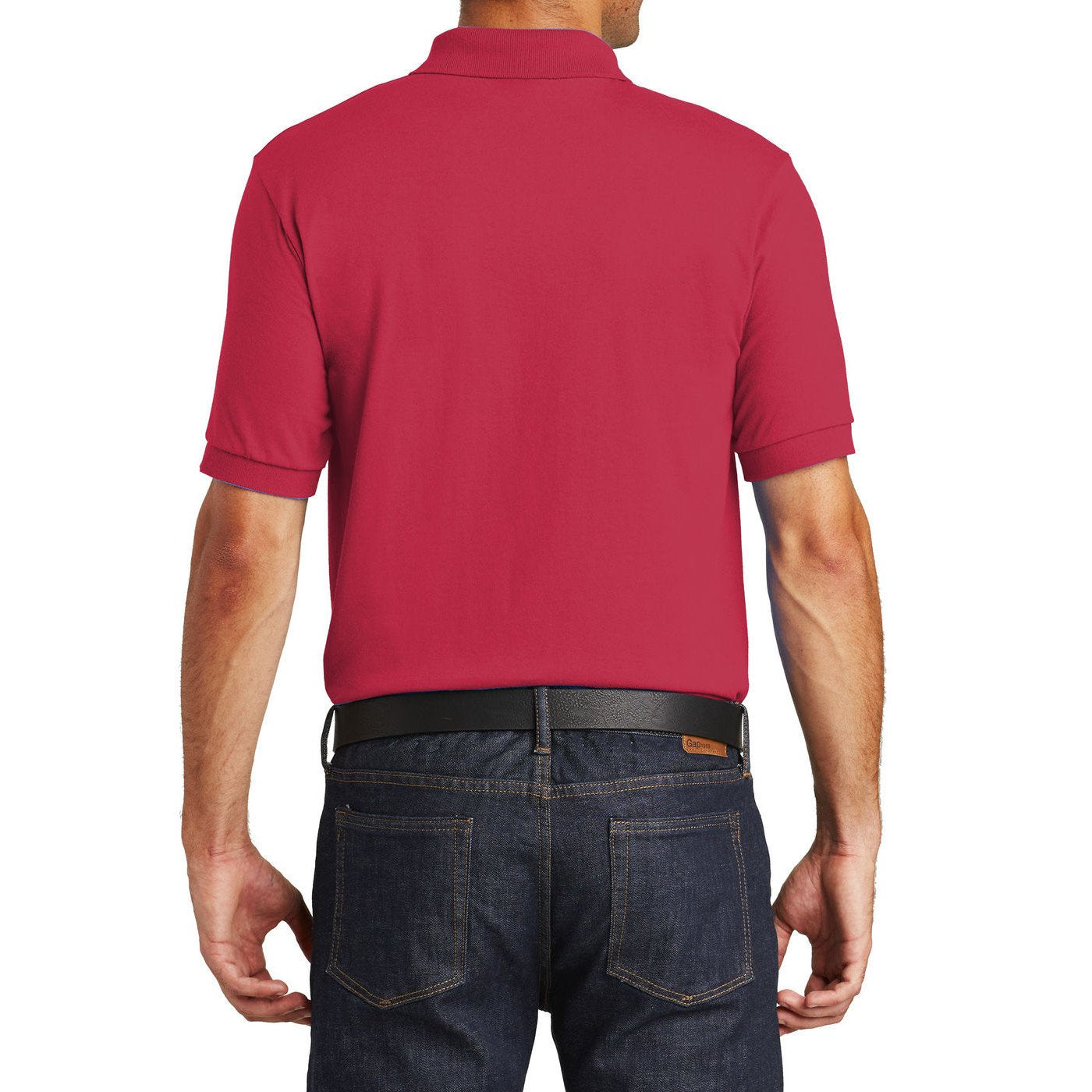 Mafoose Men's Core Blend Jersey Knit Pocket Polo Shirt Red
