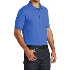 Mafoose Men's Core Blend Jersey Knit Pocket Polo Shirt Royal