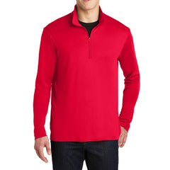 PosiCharge Competitor Cadet Collar 1/4-Zip Pullover True Red