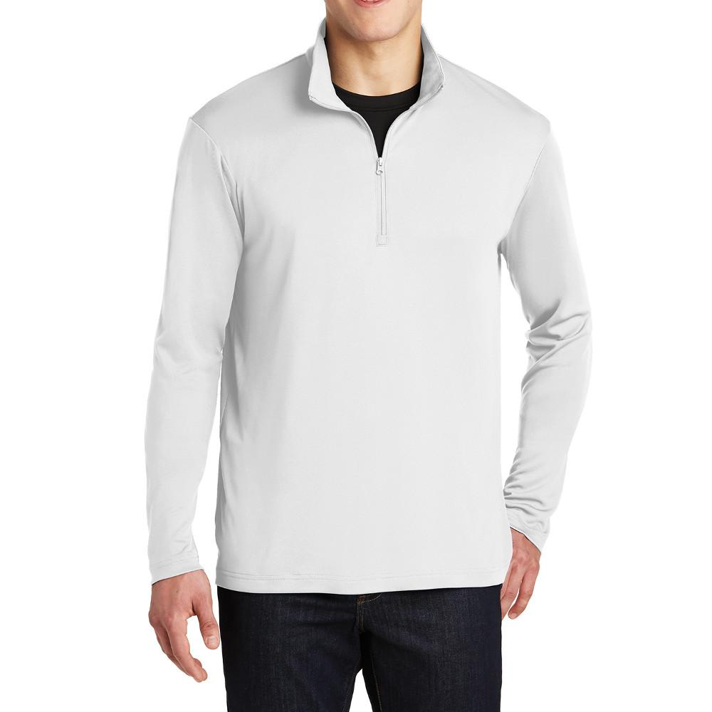 PosiCharge Competitor Cadet Collar 1/4-Zip Pullover White