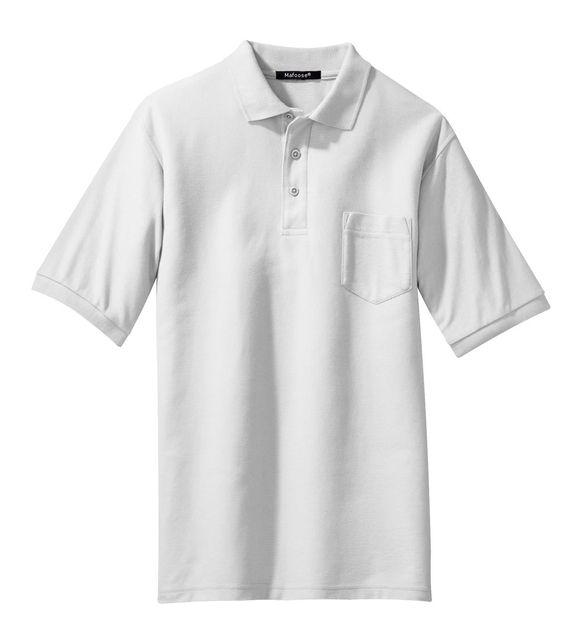 Mafoose Men's Silk Touch Polo with Pocket White-Front