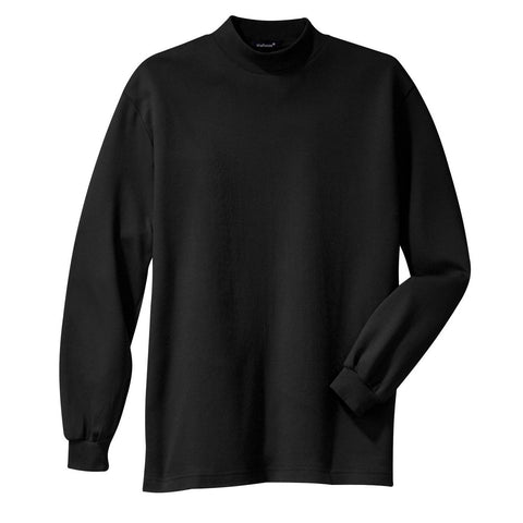 Men's Interlock Knit Mock Turtleneck Sweaters Black