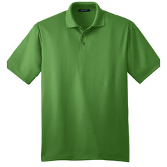 Mafoose Men's Performance Fine Jacquard Polo Vine Green-Front