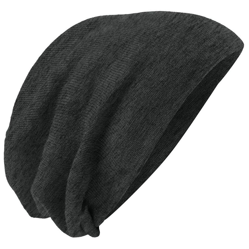 Men's Slouch Beanie Charcoal Heather