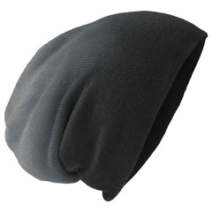 Men's Slouch Beanie Black Dip Dye