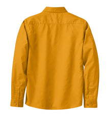 Mafoose Women's Long Sleeve Easy Care Shirt Athletic Gold/Light Stone-Back