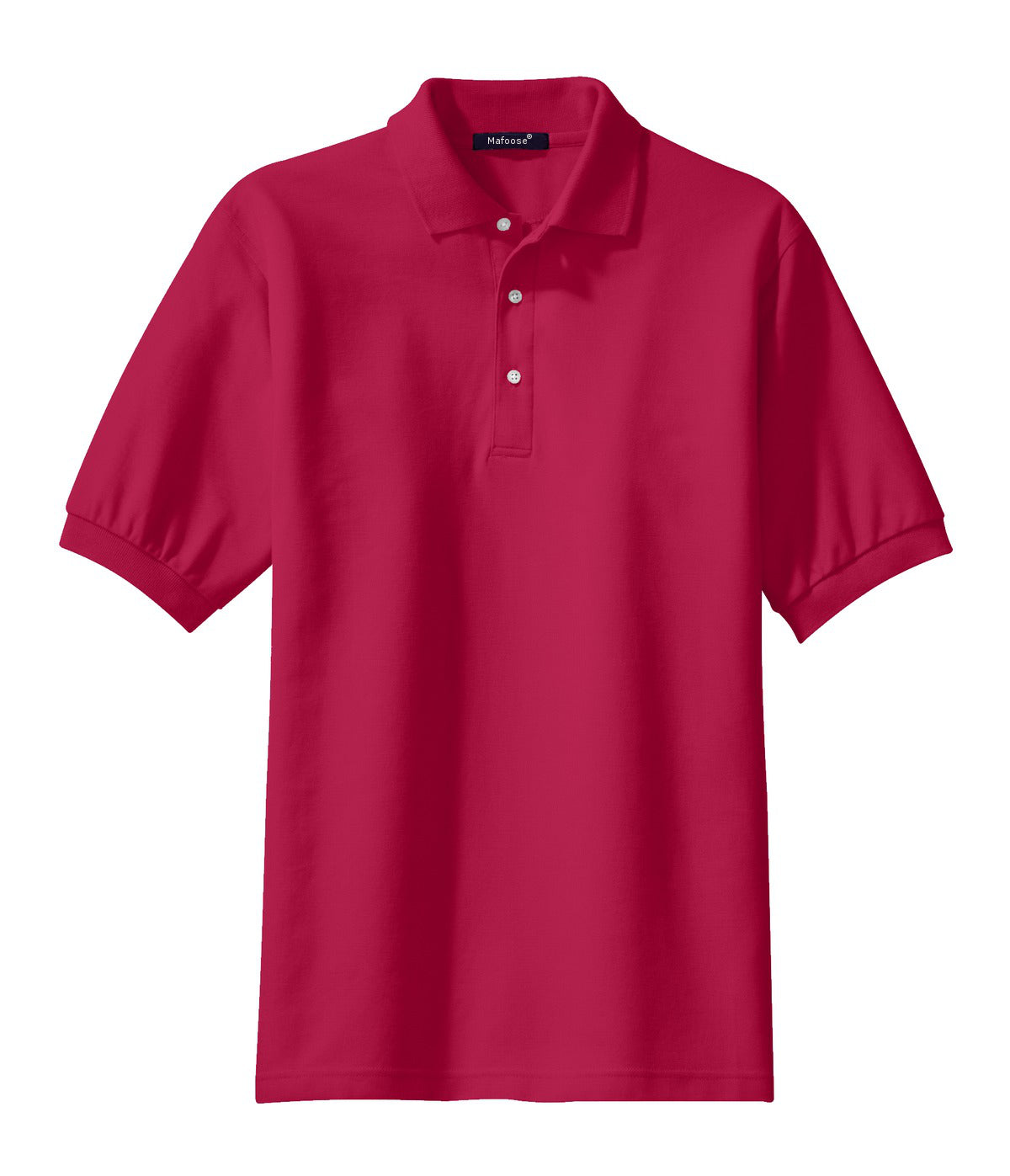 Mafoose Men's 100% Pima Cotton Polo Shirt Red-Front