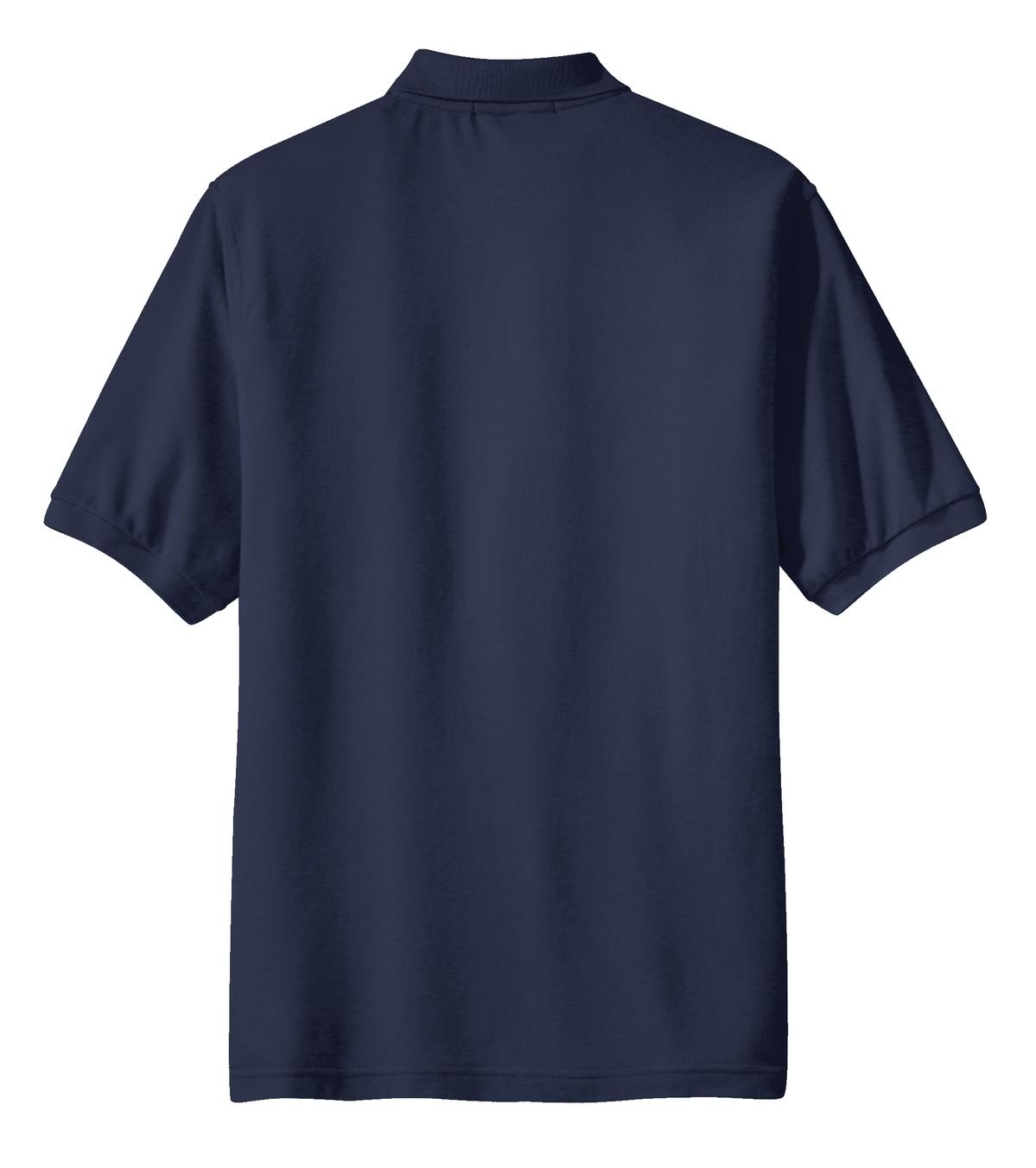 Mafoose Men's Silk Touch Polo with Pocket Navy-Back