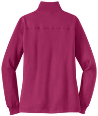 Mafoose Women's 1/4 Zip Sweatshirt Pink Rush-Back