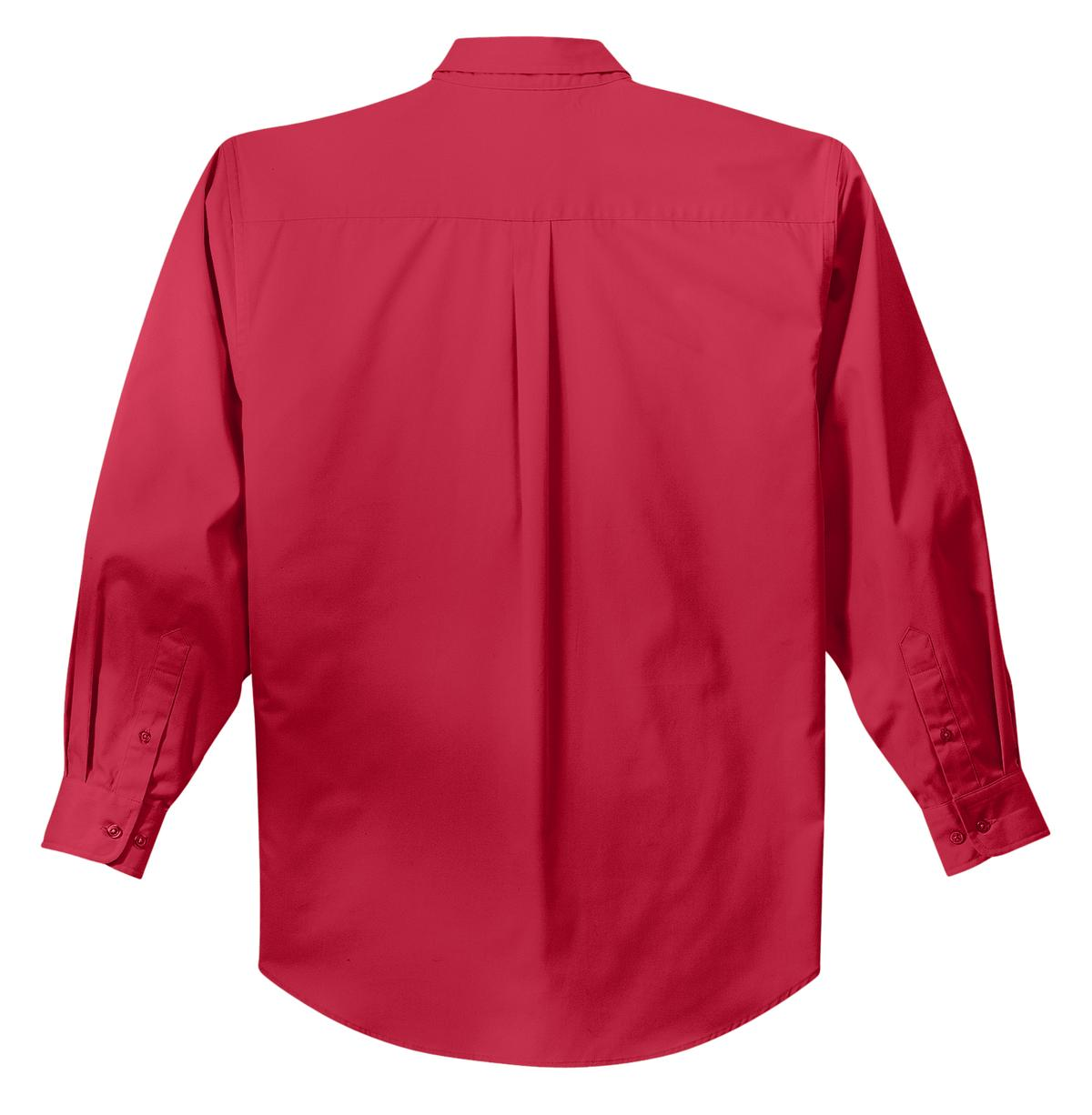 Mafoose Men's Tall Long Sleeve Easy Care Shirt Red/ Light Stone-Back