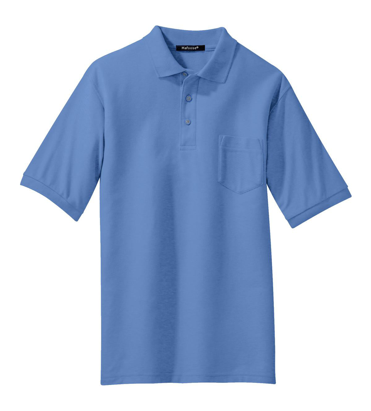 Mafoose Men's Silk Touch Polo with Pocket Ultramarine Blue-Front