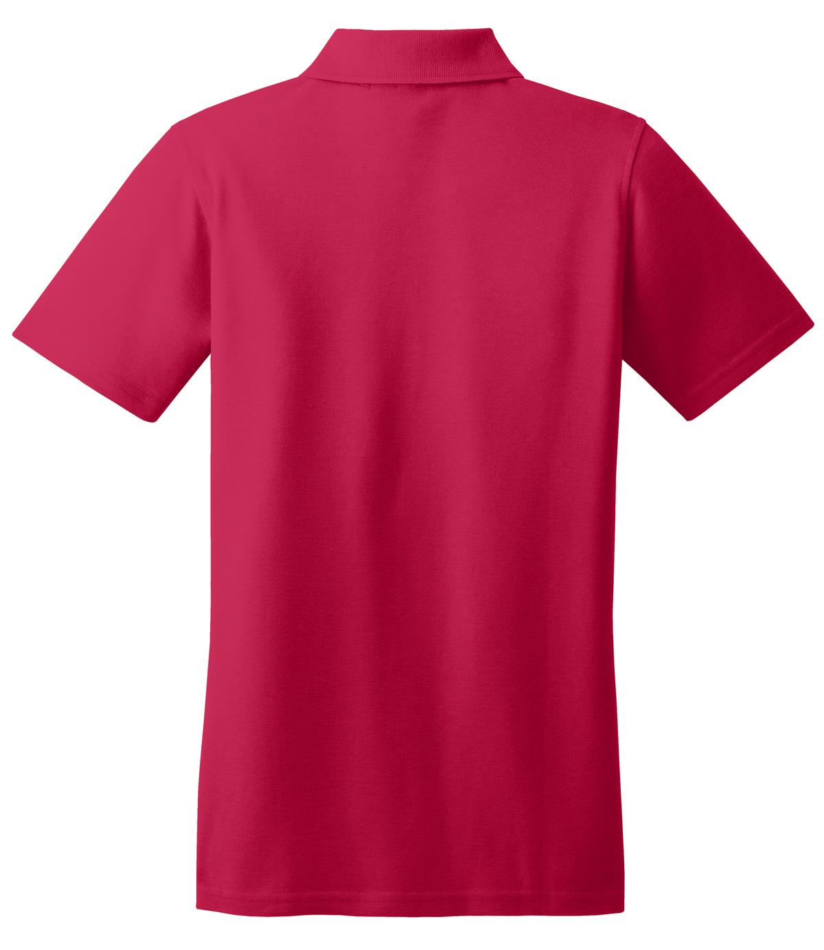 Mafoose Women's Stain Resistant Polo Shirt Red-Back