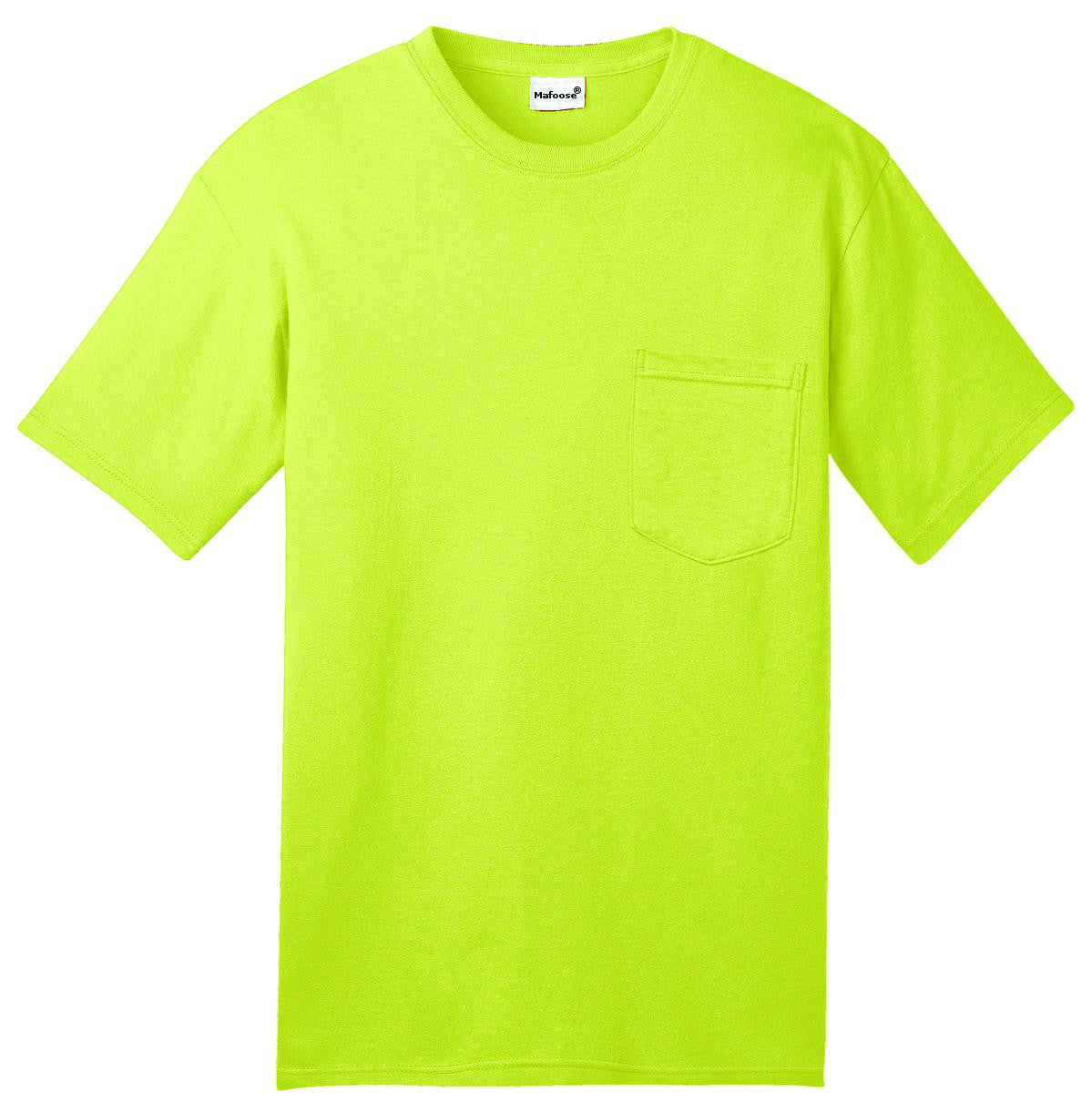 Mafoose Men's All American Tee Shirt with Pocket Safety Green-Front