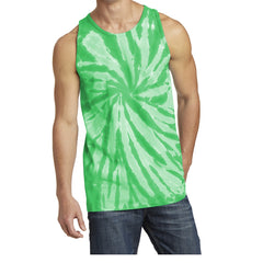 Men's Tie-Dye Tank Top - Kelly