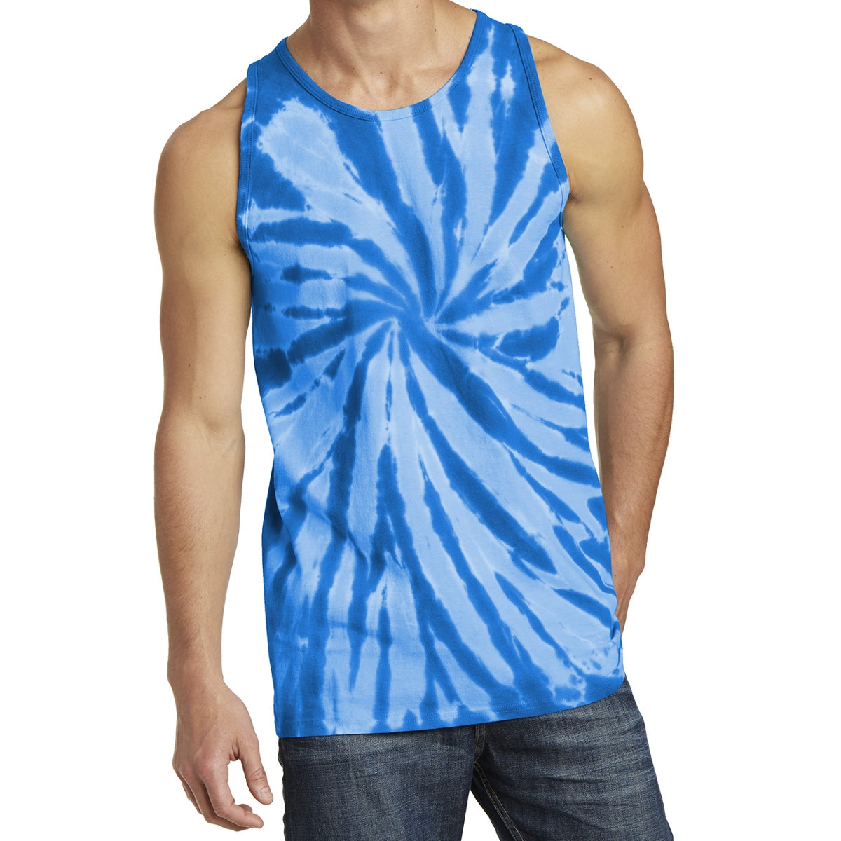 Men's Tie-Dye Tank Top - Royal