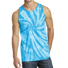 Men's Tie-Dye Tank Top - Turquoise
