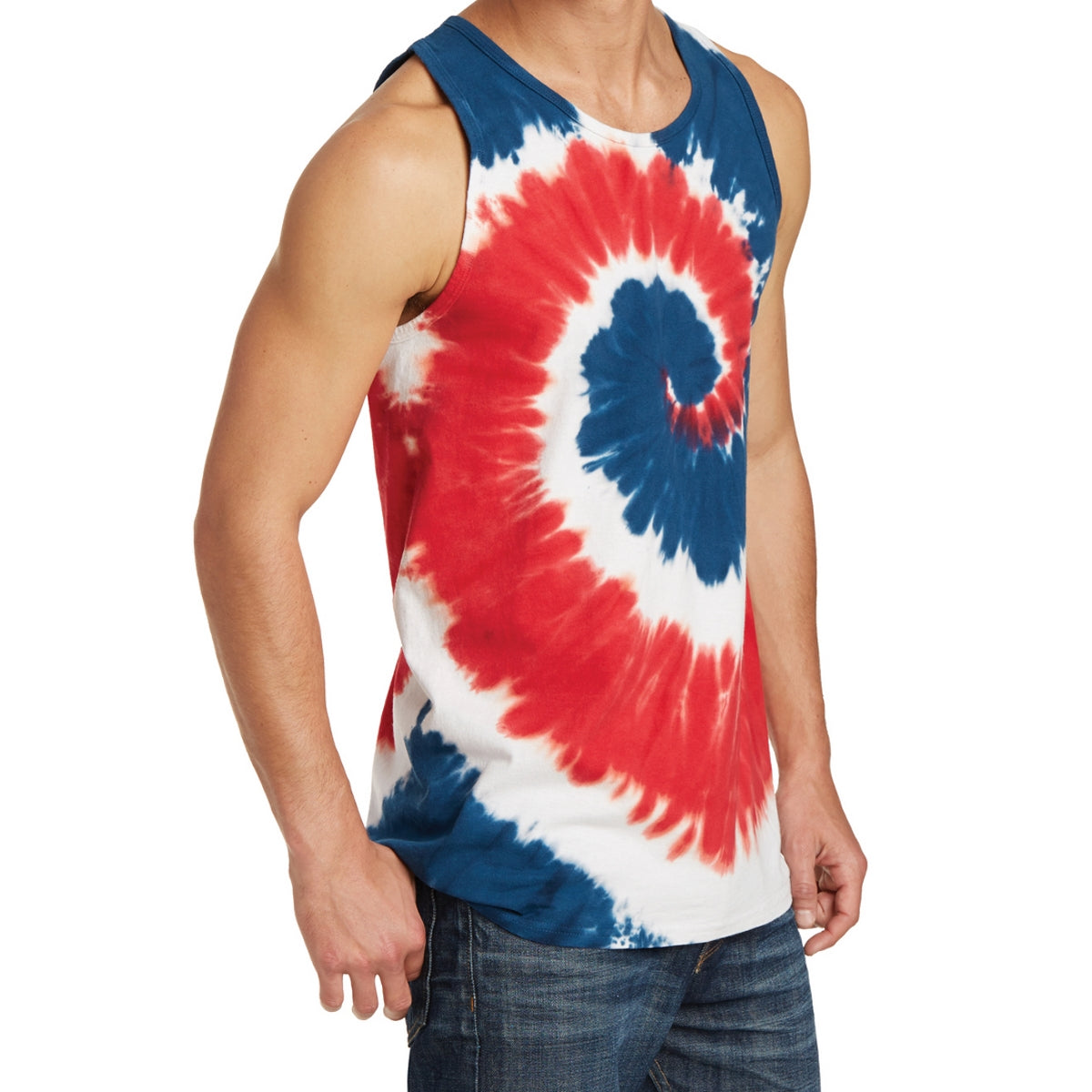Men's Tie-Dye Tank Top - USA Rainbow