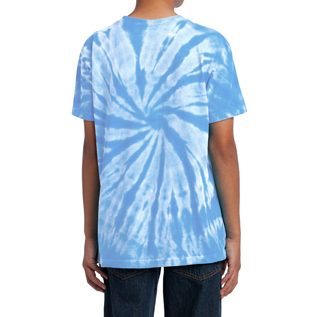 Youth Tie-Dye Tee - Light Blue