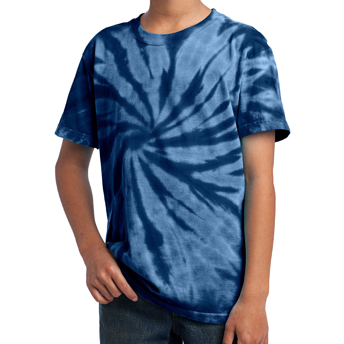 Youth Tie-Dye Tee - Navy