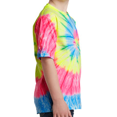 Youth Tie-Dye Tee - Neon Rainbow