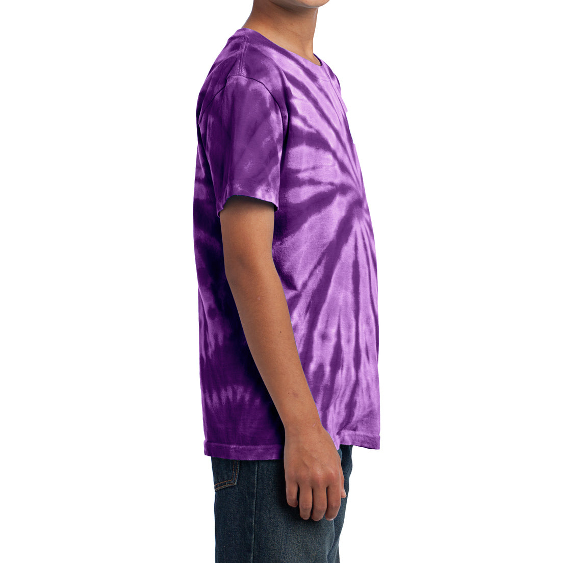 Youth Tie-Dye Tee - Purple
