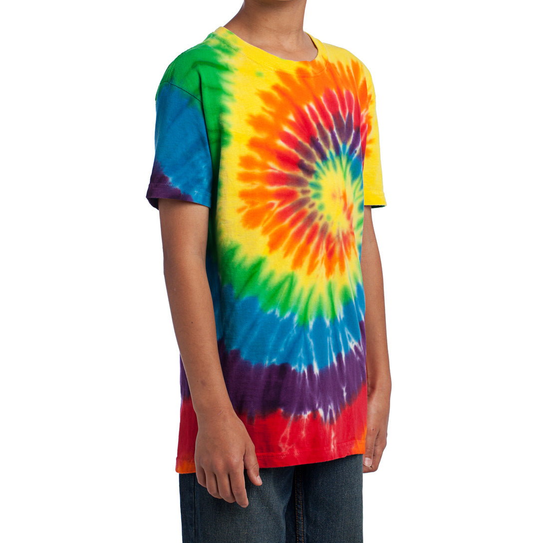Youth Tie-Dye Tee - Rainbow