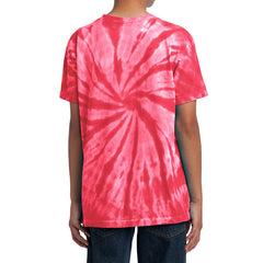 Youth Tie-Dye Tee - Red